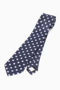 �١��������ȥå� SILK NAVY POLKA DOT
