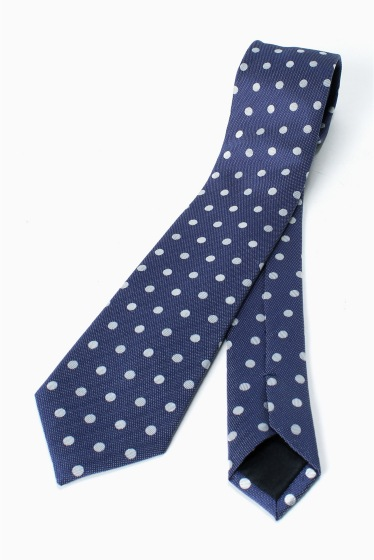 �١��������ȥå� SILK NAVY MD DOT �֥롼