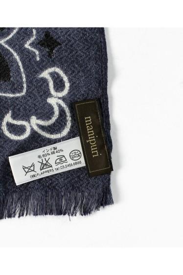 ���㡼�ʥ륹��������� �쥵������ ��manipuri/�ޥ˥ץ��  wool silk�Х���ʥ��ȡ���(120*120) �ܺٲ���3