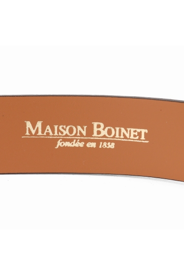 ���ѥ�ȥ�� �ɥ����������� ���饹 ��MAISON BOINET COW LEATHER BELT �ܺٲ���3