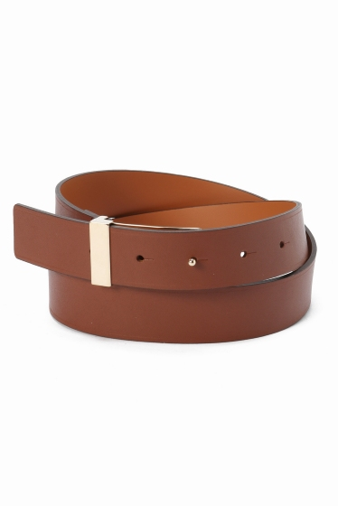 ���ѥ�ȥ�� �ɥ����������� ���饹 ��MAISON BOINET COW LEATHER BELT �֥饦��