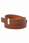 ���ѥ�ȥ�� �ɥ����������� ���饹 ��MAISON BOINET COW LEATHER BELT