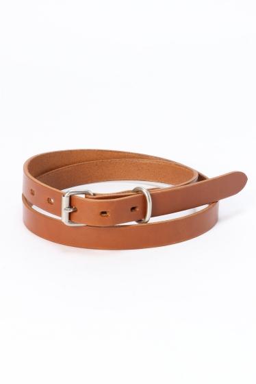 �����֥�������ʥ��ƥå� BUDDY*SKU Collar Leather Belt 20MM �֥饦��